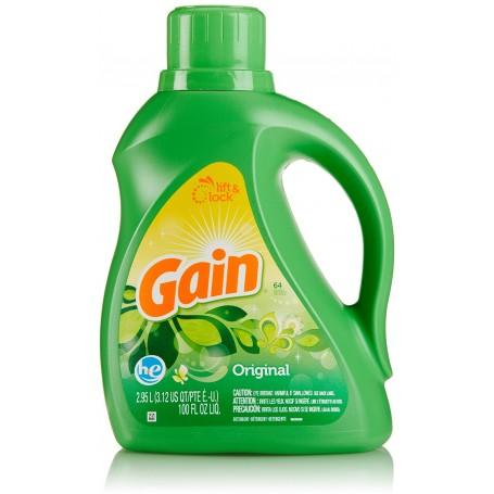 Gain Liquid Laundry Detergent, Original Scent, 64 loads, 100 fl oz