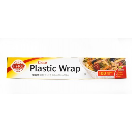HY-TOP Clear Plastic Wrap - 100 sq ft