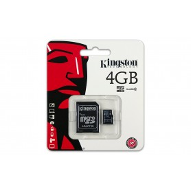 Kingston 4 GB microSDHC Class 4 Flash Memory Card