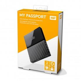 WD 2TB Black USB 3.0 My Passport Portable External Hard Drive