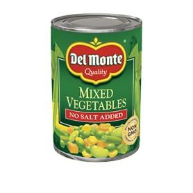 Del Monte Mixed Vegetables - No Salt Added - 14.5oz/411g