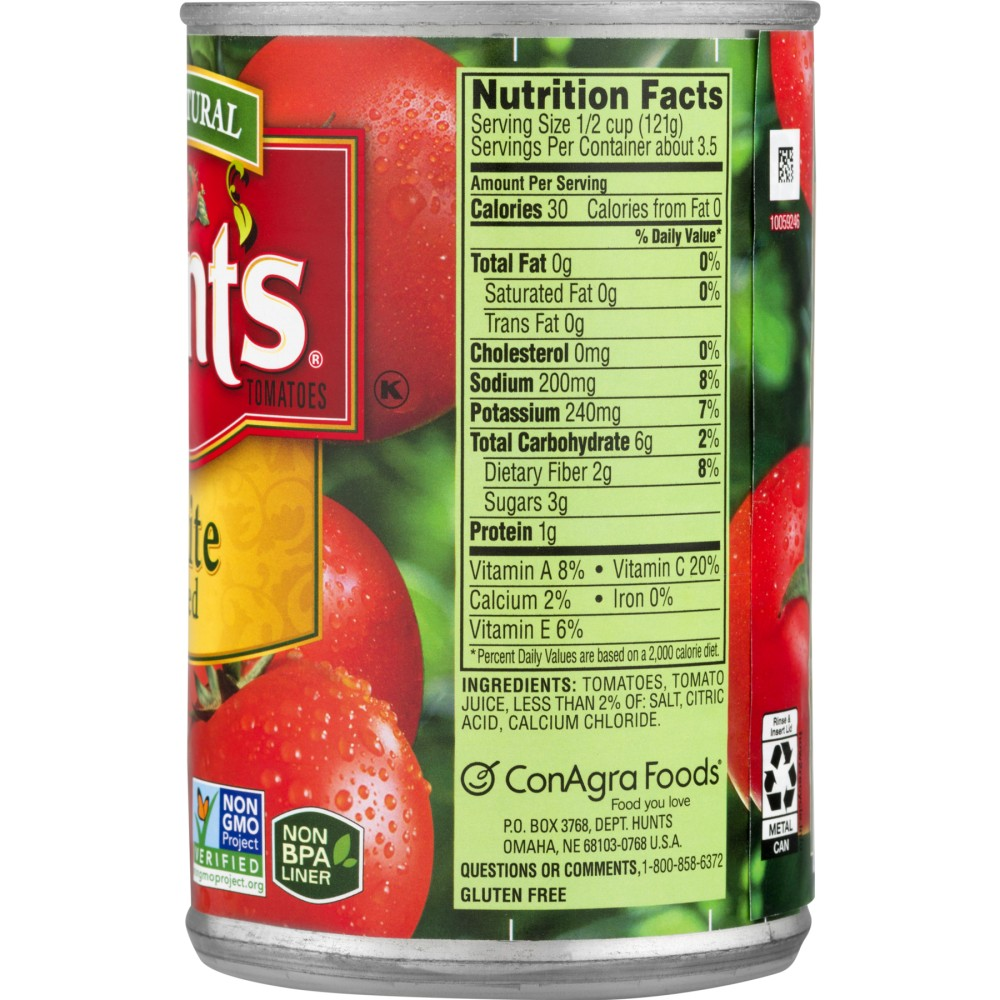 Hunts Canned Tomatoes Nutrition Facts - NutritionWalls