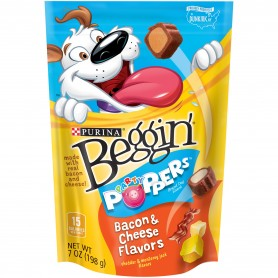 Purina Beggin' Party Poppers Bacon And Cheese Flavors 7oz