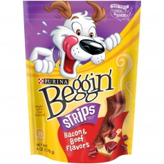 Purina Beggin' Strips Bacon And Beef Flavors Dog Snacks 6 oz.