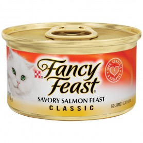 Purina Fancy Feast Classic Savory Salmon Feast Cat Food 3 oz