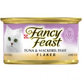 Purina Fancy Feast Flaked Tuna & Mackerel Feast Wet Cat Food 3 oz.