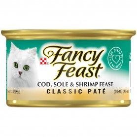 Purina Fancy Feast Classic Cod, Sole & Shrimp Feast Cat Food 3 oz