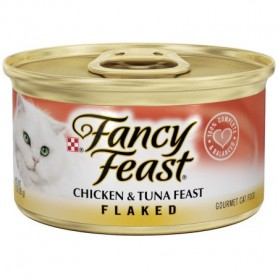 Purina Fancy Feast Flaked Chicken & Tuna Feast Cat Food 3 oz