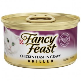 Purina Fancy Feast Grilled Chicken Feast in Gravy Collection Cat Food 3oz