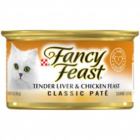 Purina Fancy Feast Classic Tender Liver & Chicken Feast Cat Food 3 oz