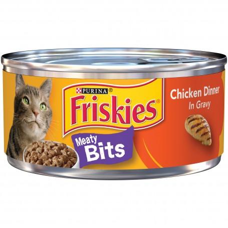 Purina Friskies Meaty Bits Chicken Dinner in Gravy Cat Food 5.5 oz