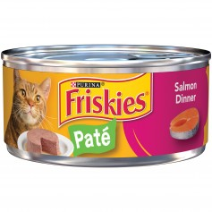 Purina Friskies Classic Pate Salmon Dinner Cat Food 5.5 oz