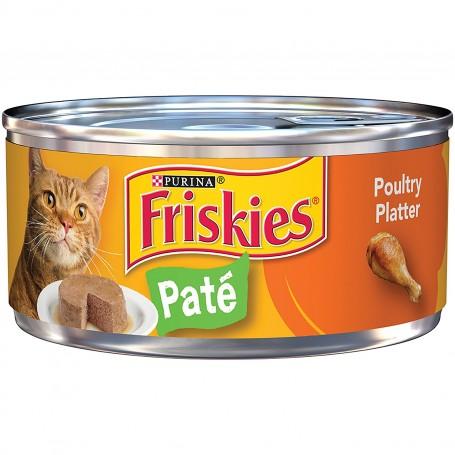 Purina Friskies Pate Poultry Platter Cat Food 5.5oz