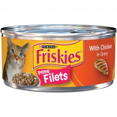 Purina Friskies Prime Filets with Chicken in Gravy Cat Food 5.5oz