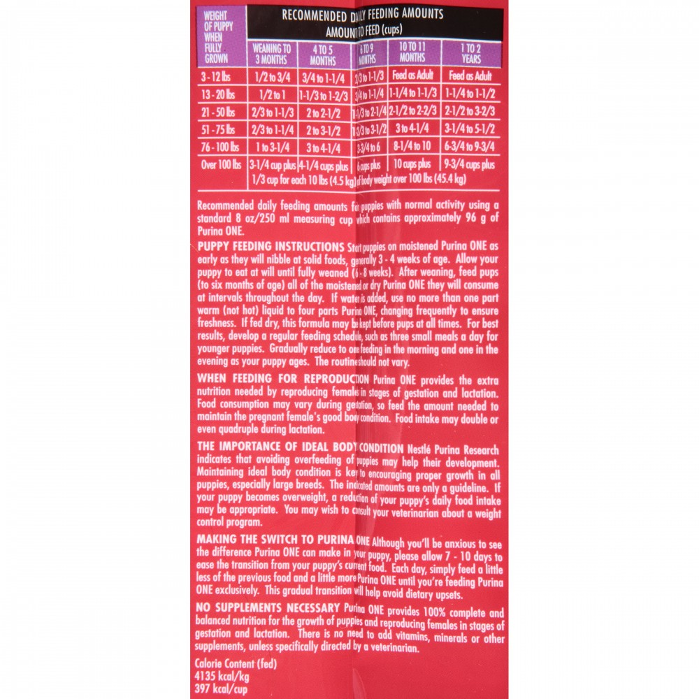 Purina One Smartblend Healthy Puppy Formula Premium Dog Food 4 Lbs Gtplaza Inc