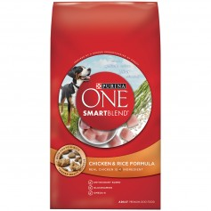Purina ONE SmartBlend Chicken And Rice Formula Adult Premium Dog Food 8 lbs