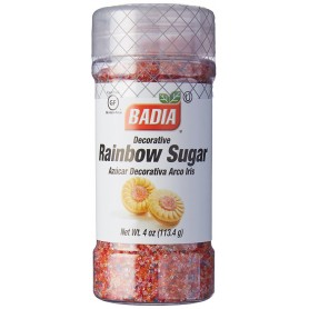 Badia Decorative Rainbow Sugar 4oz