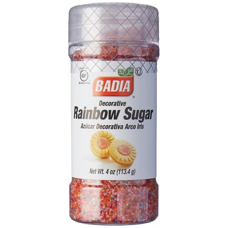 Badia Decorative Rainbow Sugar 4oz