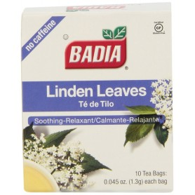 Badia Linden Leaves Tea Bags 0.045oz 10 Bags