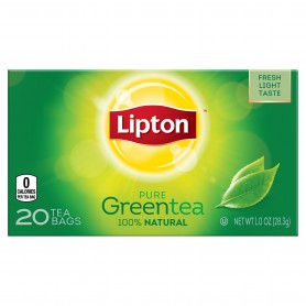 Lipton Green Tea Bags 100% Natural 20s 10oz