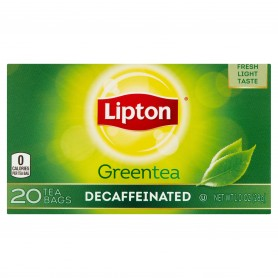 Lipton Green Tea Bags Decaffeinated 20s 1.0oz