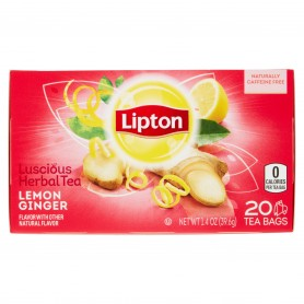 Lipton Green Tea Bags Lemon Ginger 20s 1.4oz
