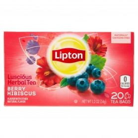Lipton Berry Hibiscus Herbal Tea Bags 20s 1.2oz