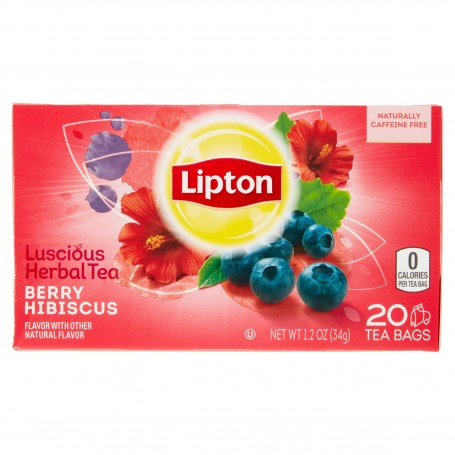 Lipton Berry Hibiscus Herbal Tea Bags 20s 12oz Gtplaza Inc
