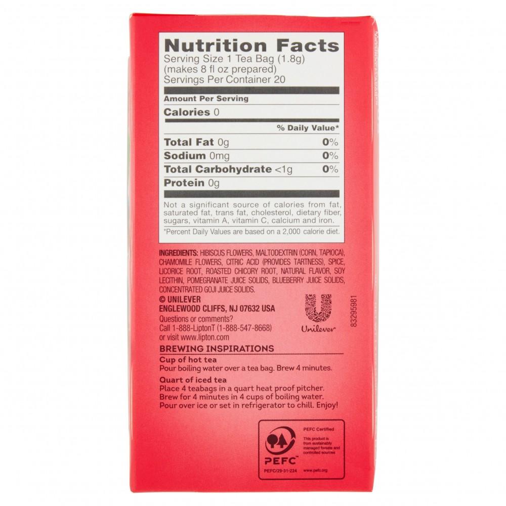 Lipton Berry Hibiscus Herbal Tea Bags 20s 12oz Gtplaza Inc