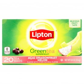 Lipton Dragonfruit Melon Green Tea Bags 20s 0.8oz
