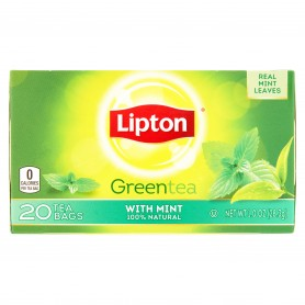 Lipton Green Tea Bags Mint 20s 10oz