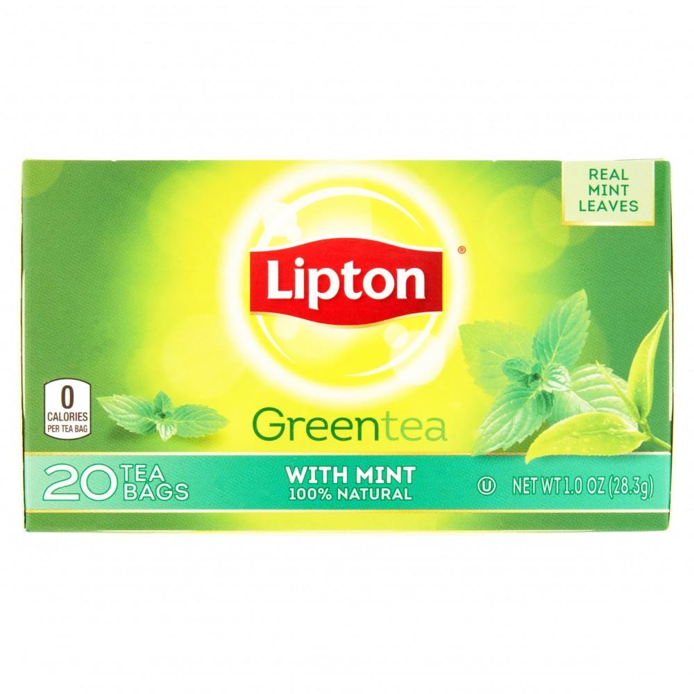 Lipton Green Tea Bags Mint 20s 1 0oz Gtplaza Inc