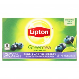 Lipton Green Tea Bags Purple Acai Blueberry 20s 0.8oz