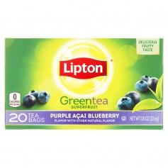 Lipton Green Tea Bags Purple Acai Blueberry 20s 0.8oz