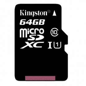 Kingston Digital 64GB microSDXC Class 10 Memory Card with SD Adapter