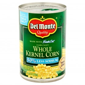 Whole Kernel 50% Less Sodium 15.25 oz - Front