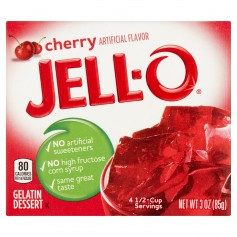 Kraft Jello Gelatin Cherry 3oz