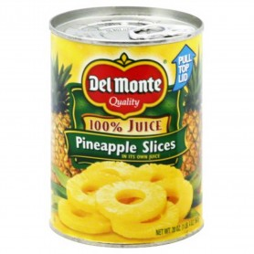 Del Monte Pineapple Slice Heavy Syrup 20oz
