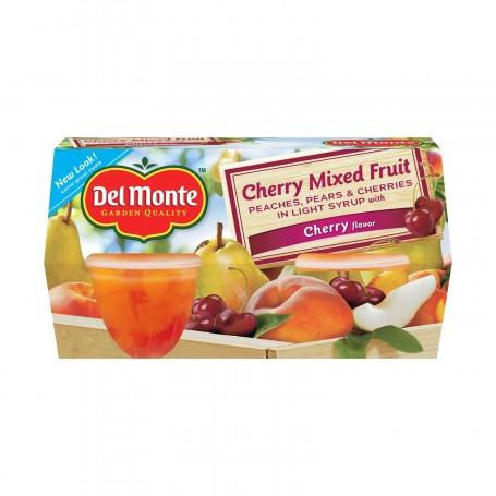 Del Monte Cherry Mixed Fruit 4 - 4oz cups