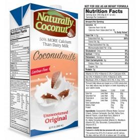 Naturally Coconut Unsweetened Coconut Milk 32oz