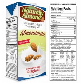 Naturally Almond Original Milk Unsweetened 32oz
