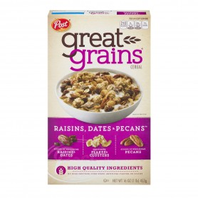 Post Great Grains Raisins, Dates & Pecans - 16 oz/453g