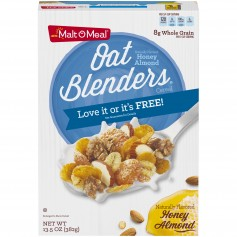 Post Malt O Meal Honey Oats Blenders 13.5oz
