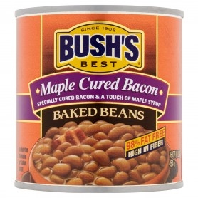 Bush's Baked Beans Best Maple Cured Bacon Baked Beans, 16 oz